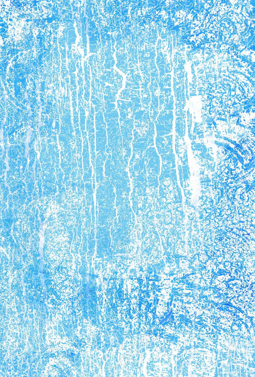 Abstract Textured Background White Patterns On Blue Sky Like Backdrop For Art Texture