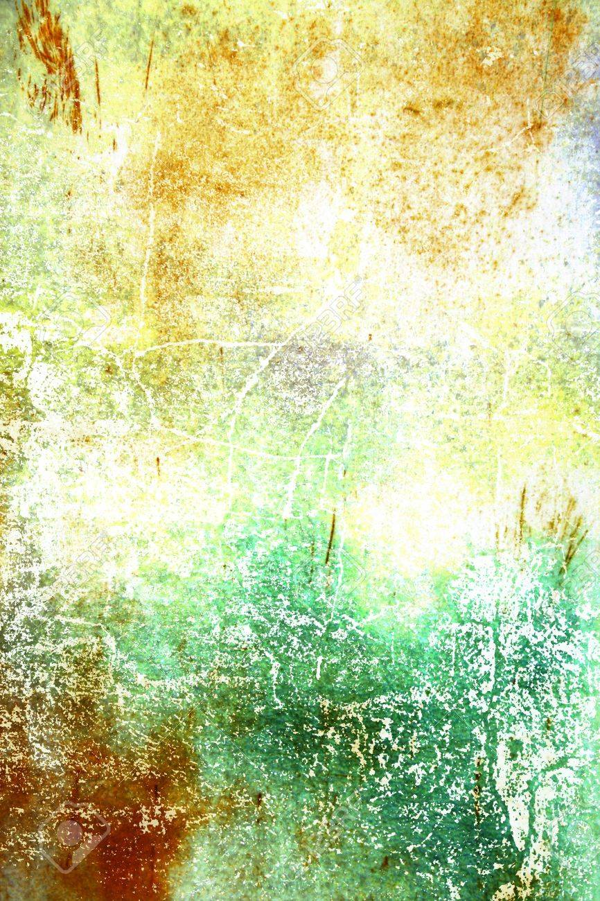 Abstract Textured Background: Green, Yellow, And Brown Patterns ...