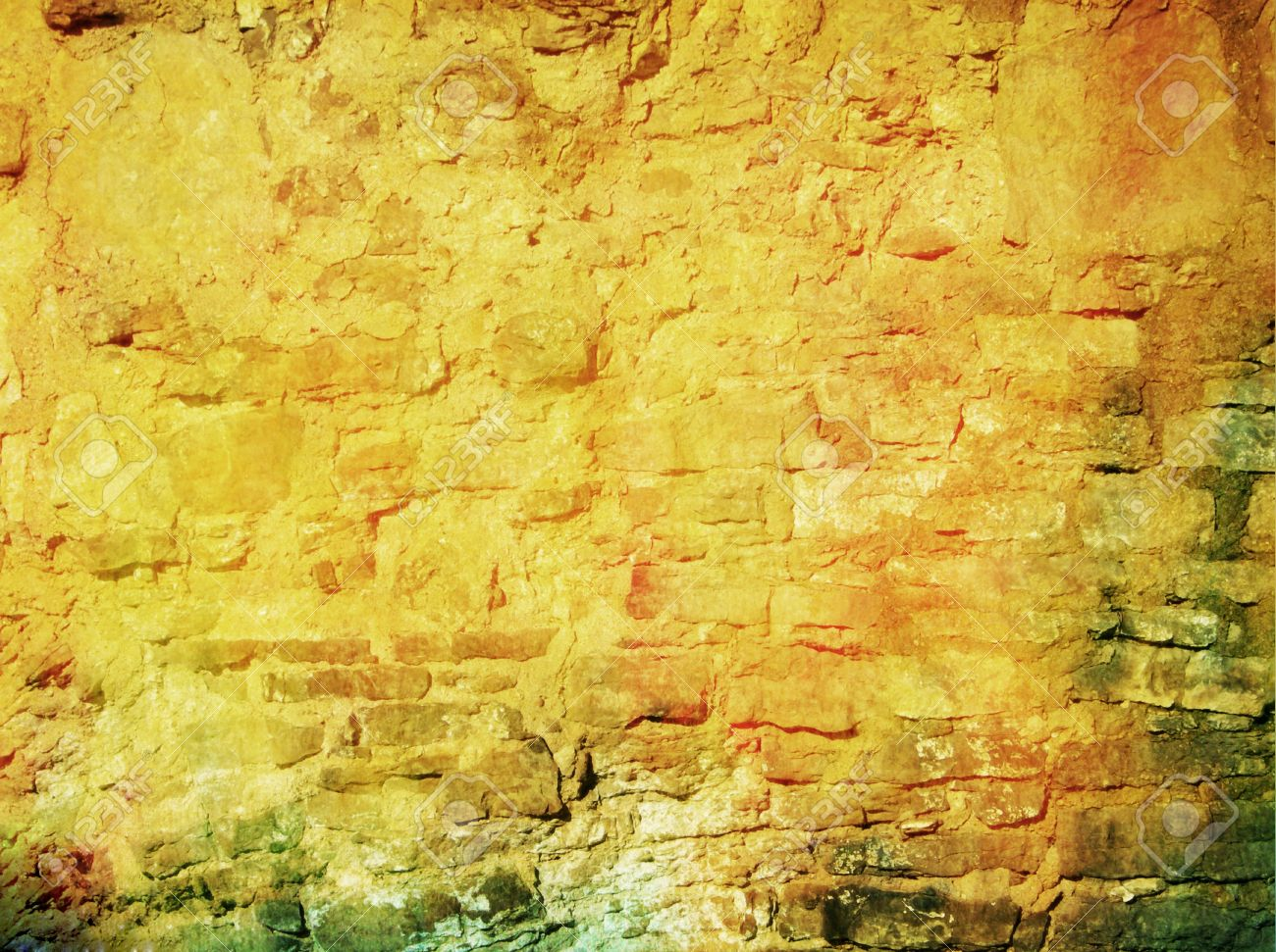 Old Ragged Wall: Abstract Textured Background With Red, Brown ...