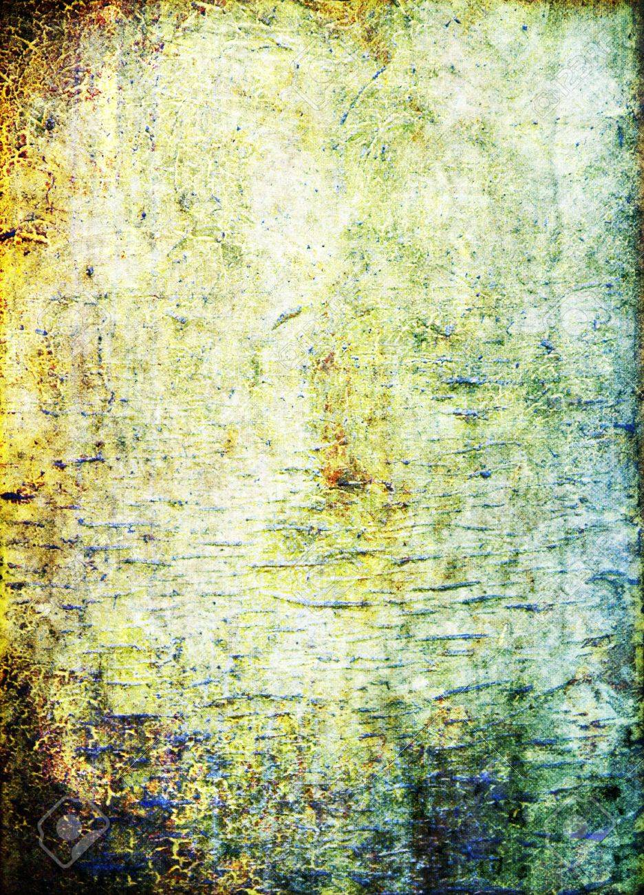 Old Ragged Wall: Abstract Textured Background: Blue, Brown, And ...