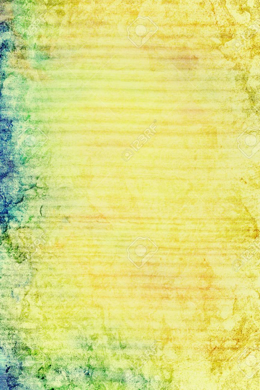 Old Ragged Wall: Abstract Textured Background With Blue, Green ...