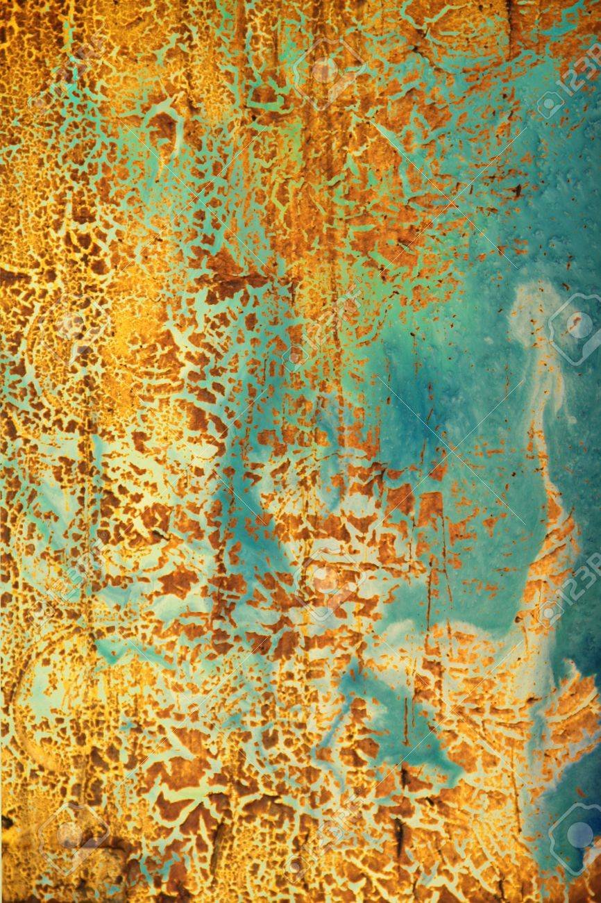 Old Shabby Wall: Abstract Textured Background With Yellow And ...
