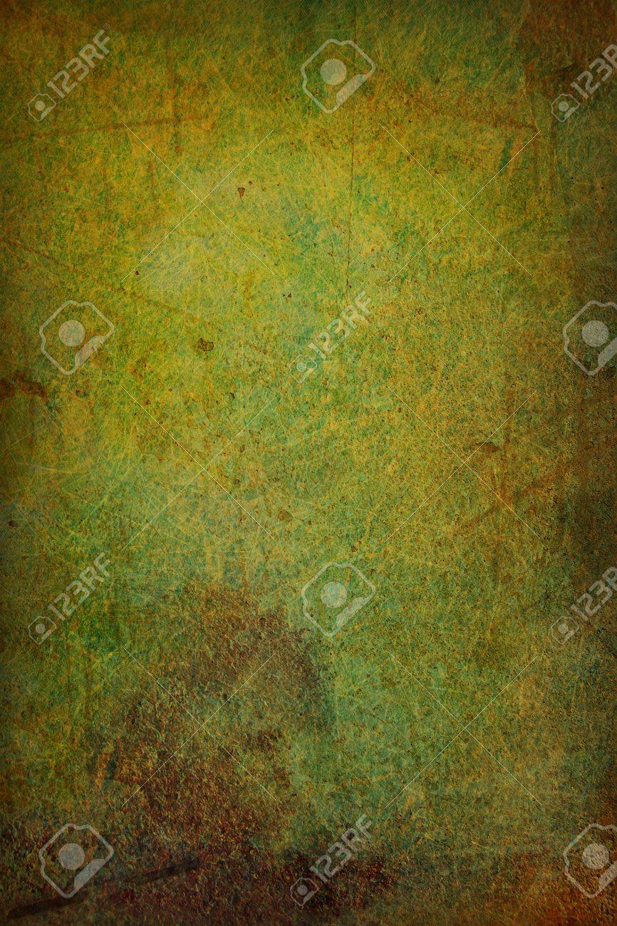 Grain Green / Brown Paint Wall Background Or Vintage Texture ...