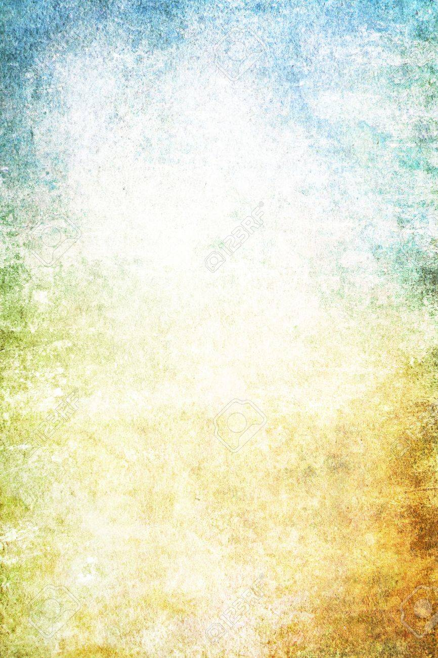 Grain yellow / white / blue paint wall background or vintage texture. For art texture, grunge design, and old border frame Stock Photo - 17023743