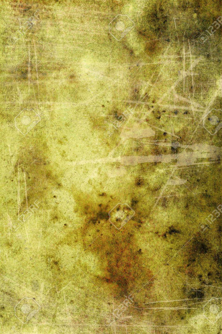 Grain green / brown paint wall background or vintage texture. For art texture, grunge design, and old border frame Stock Photo - 17023748