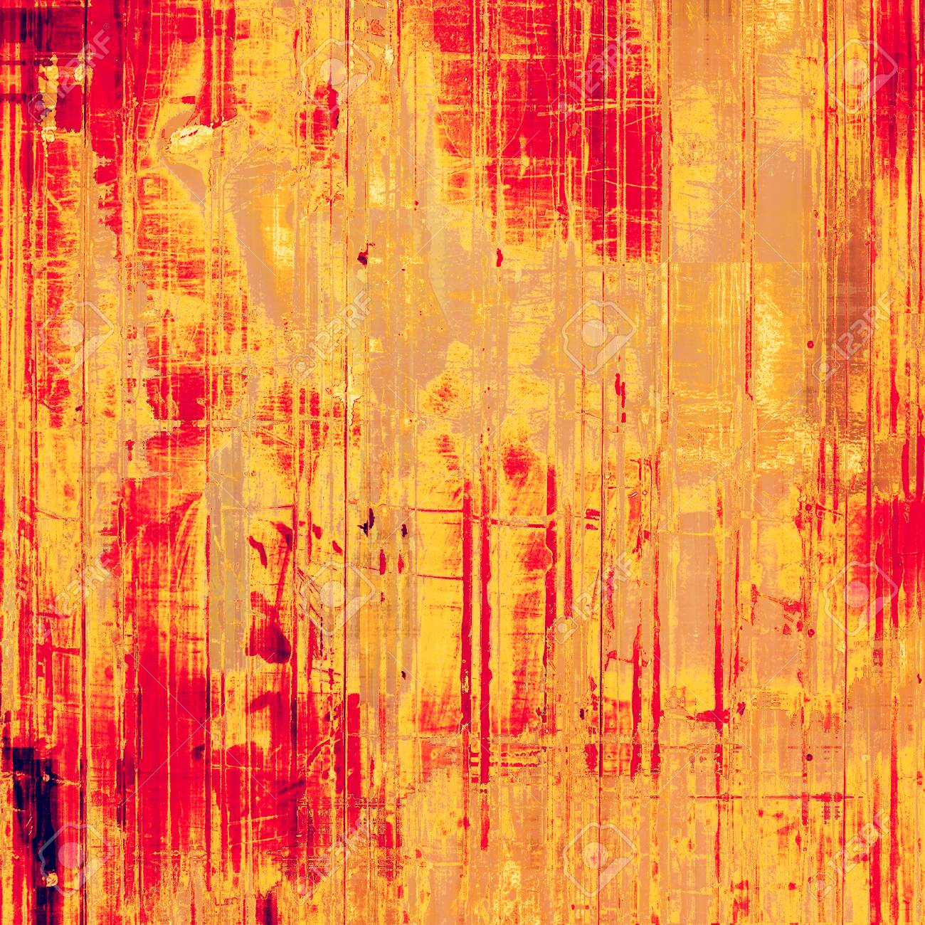 Vintage Texture Ideal For Retro Backgrounds With Yellow Brown Red Orange Patterns