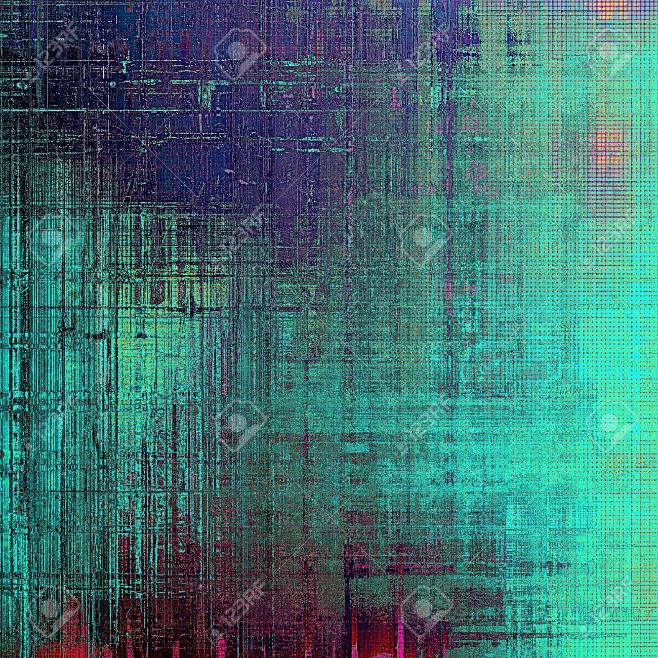 Digital Entworfene Hintergrund Oder Textur Für Retro-Stil Rahmen ...