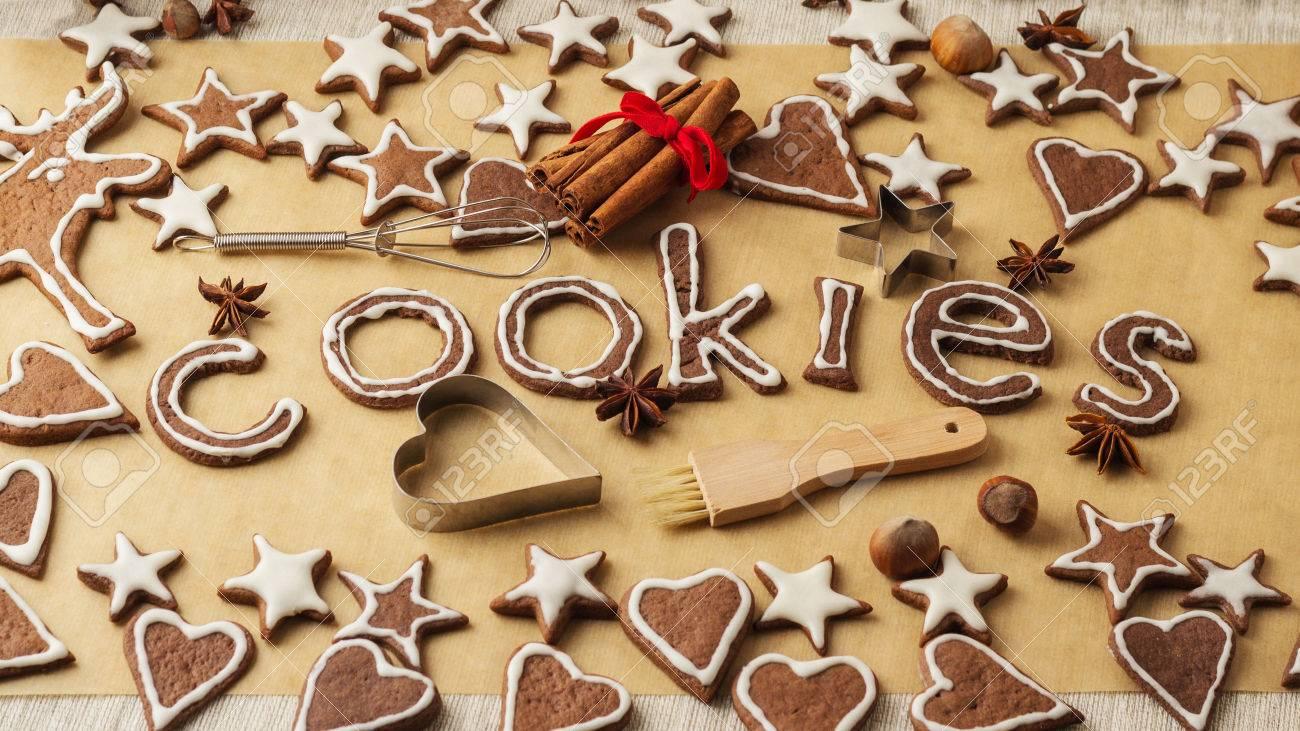 Christmas Cookies Vintage Stile Christmas Decorations Letters