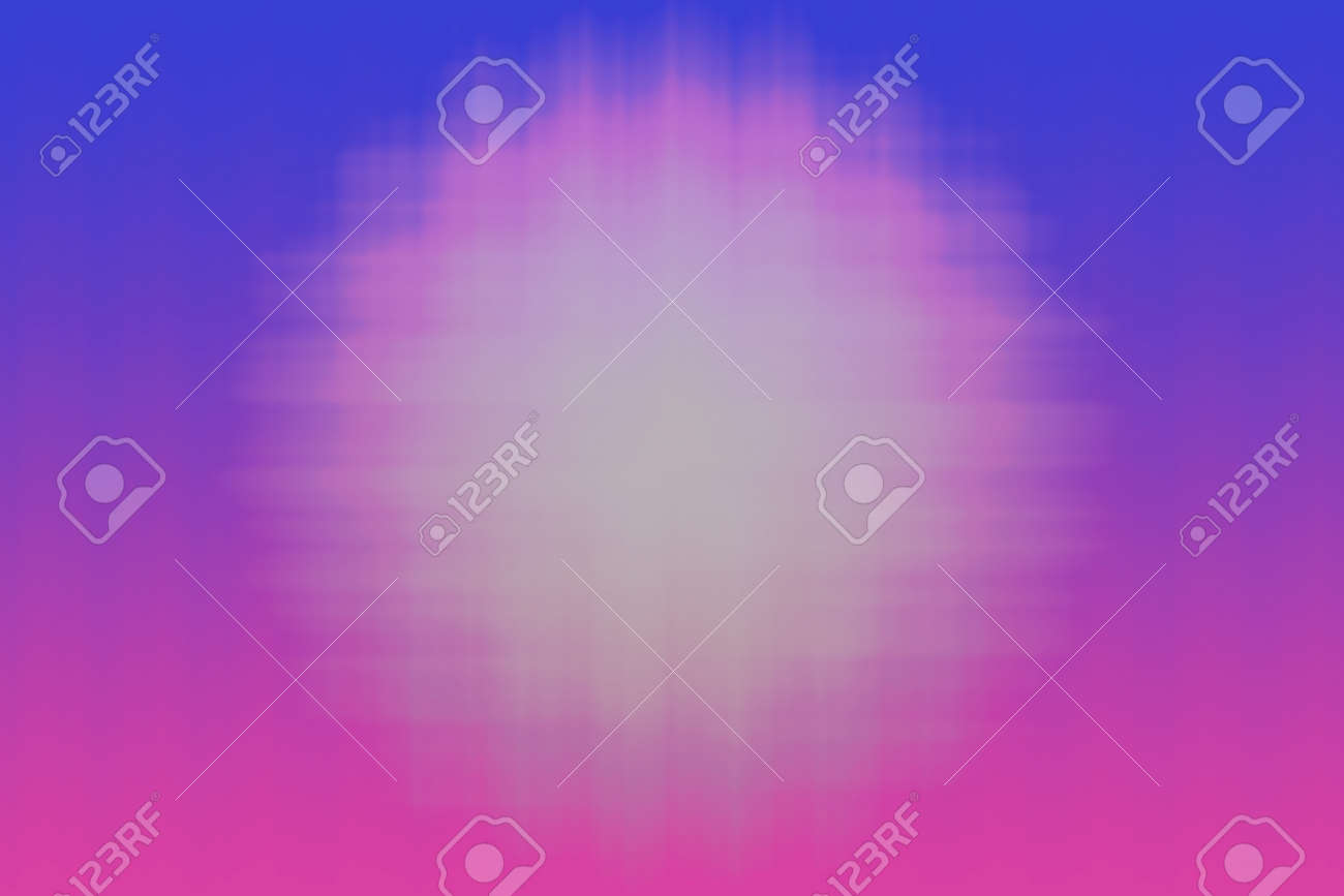 Tri-color acid abstract background with white blurred spot in the center glow effect. - 166361522