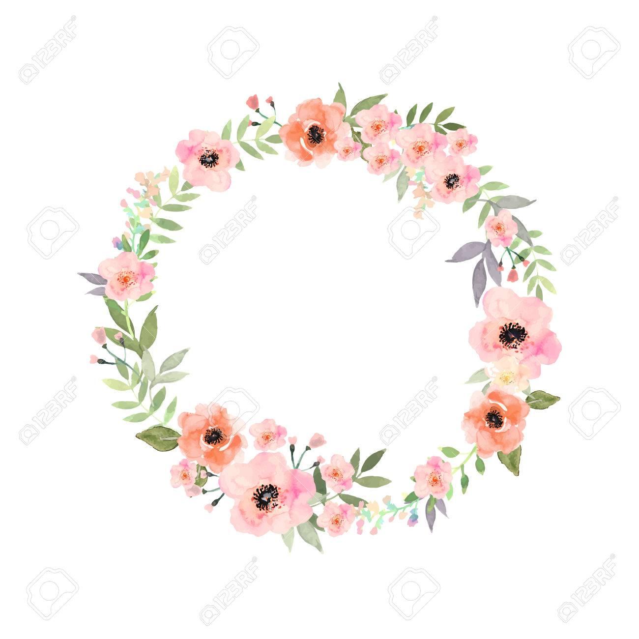 Blumen Gesetzt Elegante Blumen Kollektion Mit Isolierten Blau Rosa