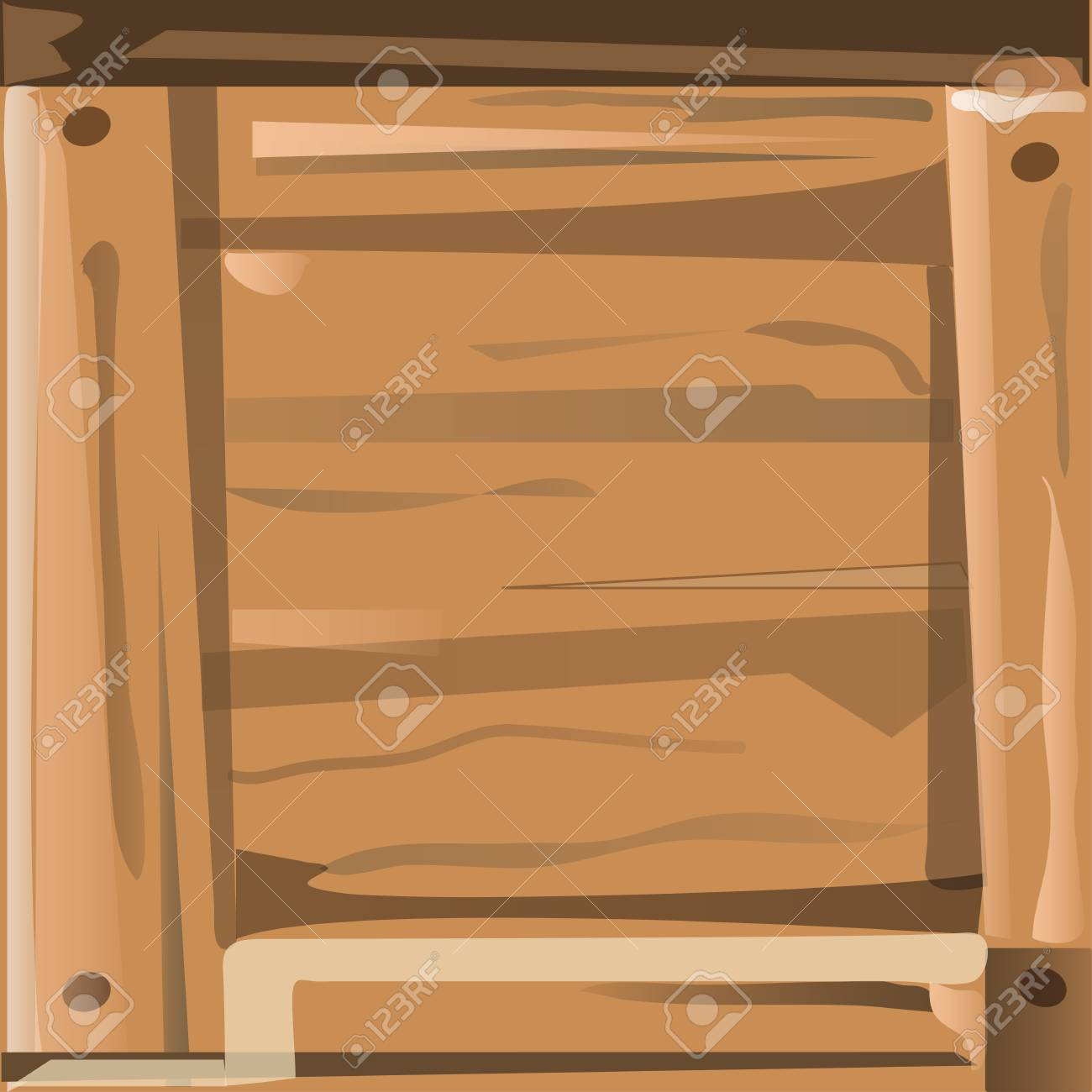 Cartoon Wood Texture Brown Background Vector Illustration Stock