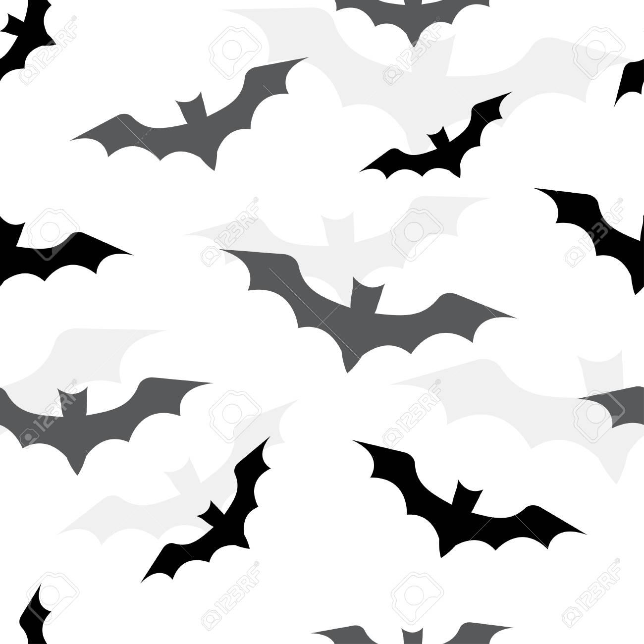 Patrones Sin Fisuras Con Murciélagos Para Halloween. Ilustración ...