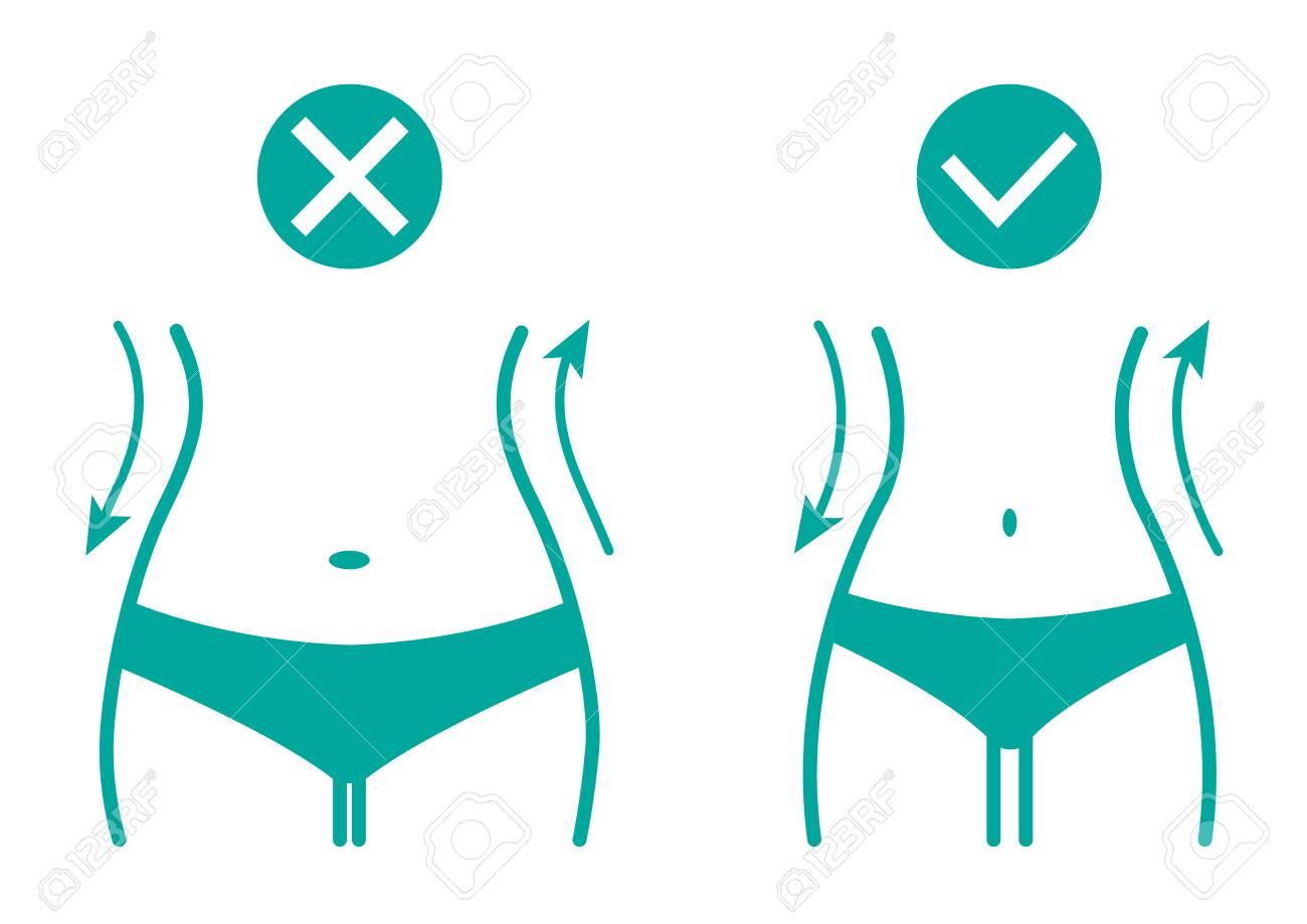 silueta mujer perdida de peso