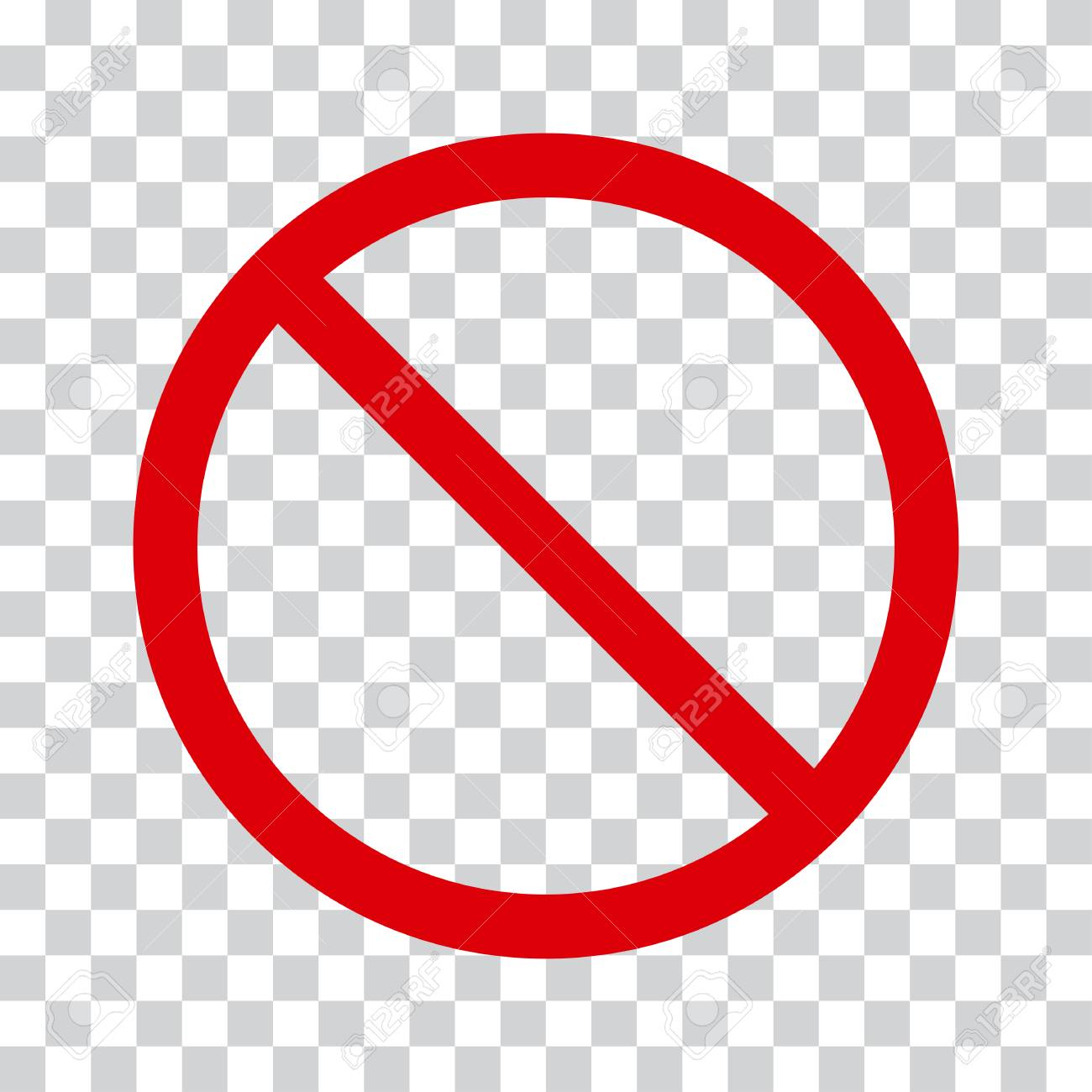 Red stop icon on transparent background. No symbol Vector illustration - 89037069