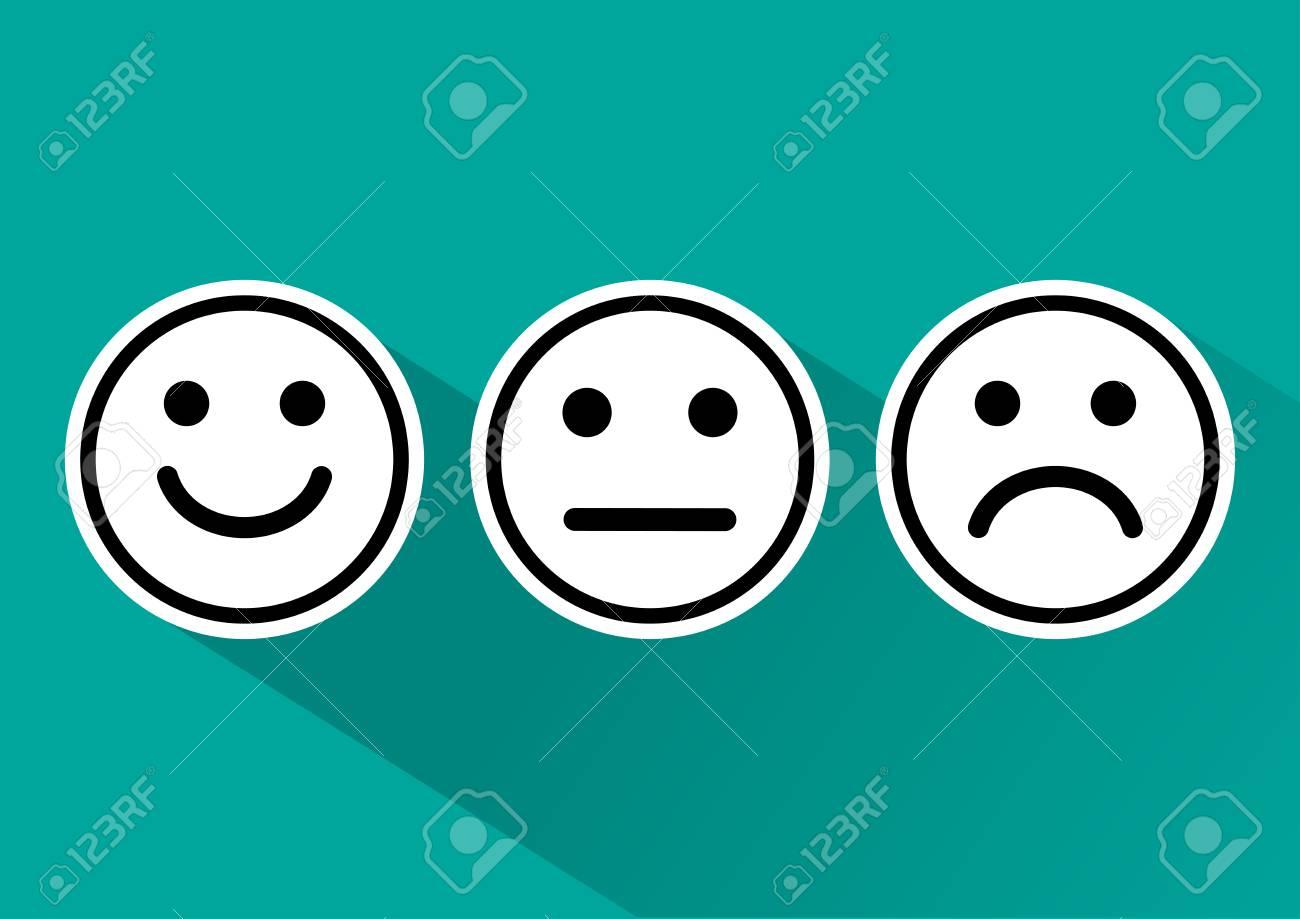Ensemble Noir Et Blanc D Emoticones De Smiley Dans Une Humeur Differente Sur Fond Turquoise Clip Art Libres De Droits Vecteurs Et Illustration Image 89039972