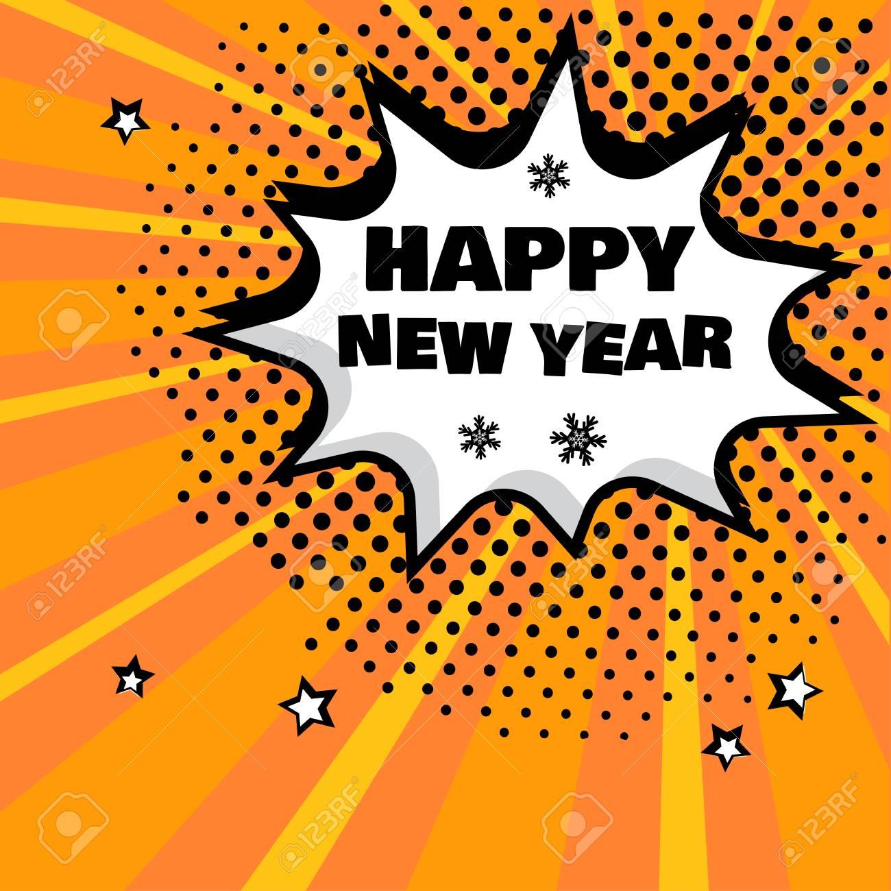 Happy New Year Orange 29