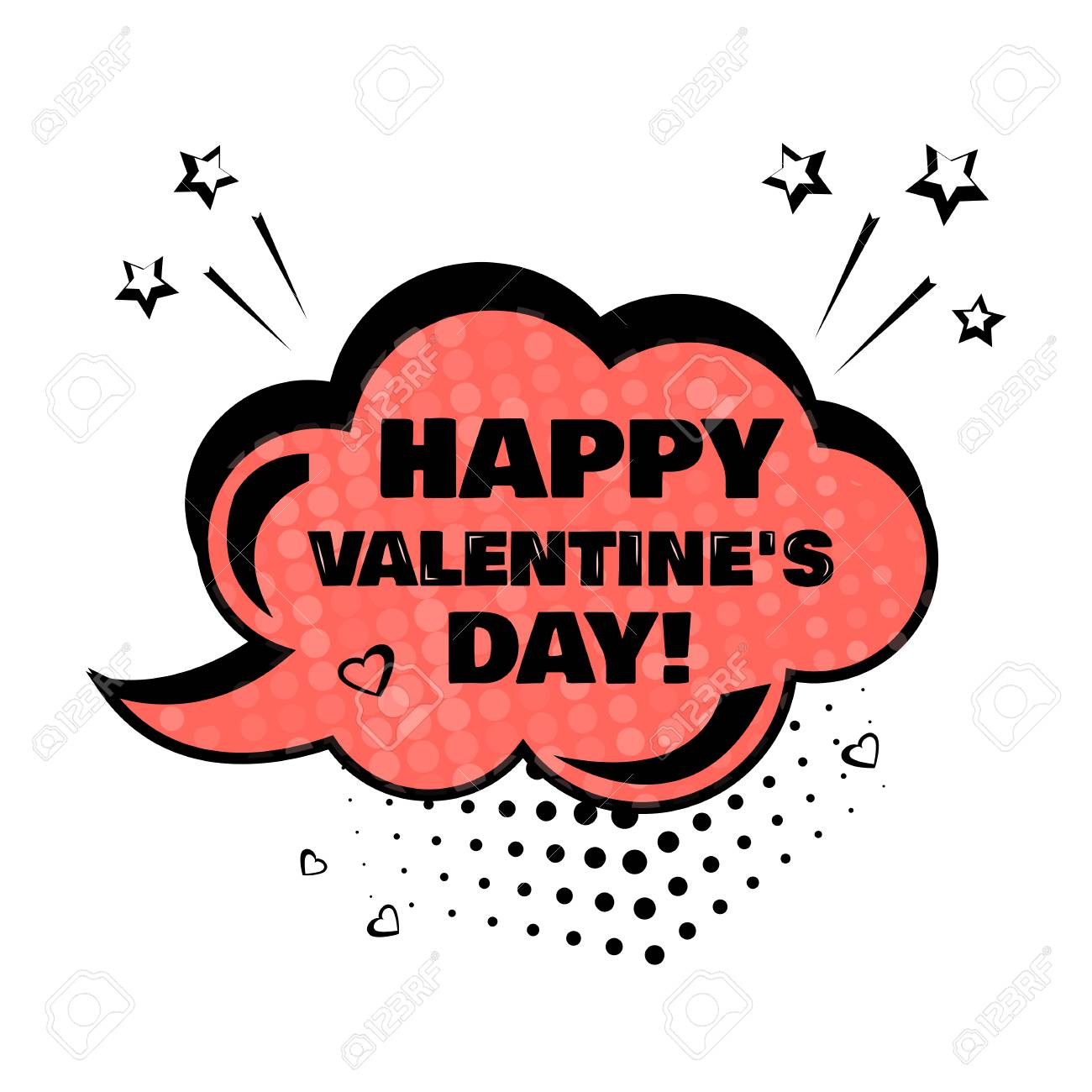 Red comic bubble with word happy valentines day comic sound red comic bubble with word happy valentines day comic sound effects in pop art style voltagebd Choice Image
