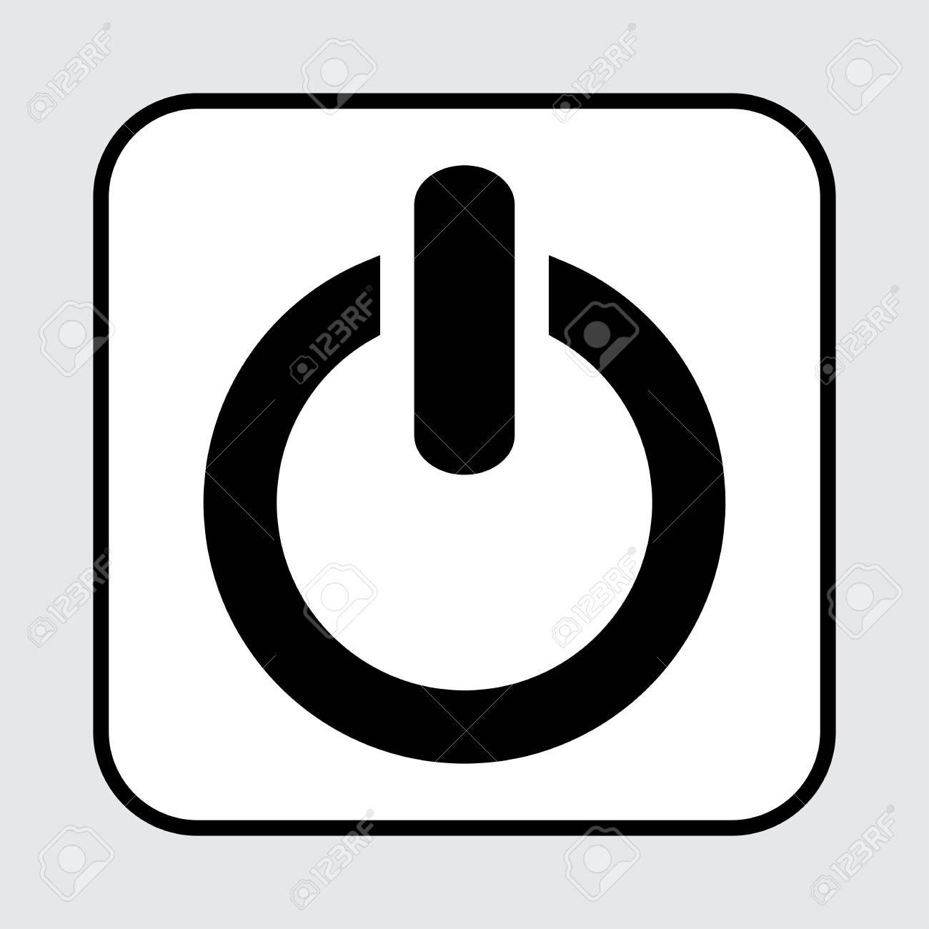 black power button icon vector illustration rh 123rf com power button vector free power button vector free