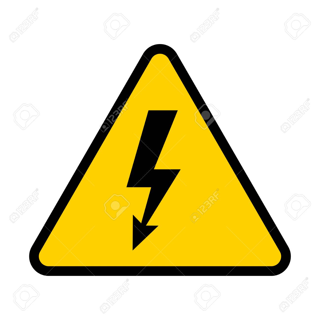 Electrical Hazard Sign High Voltage Danger Symbol Vector