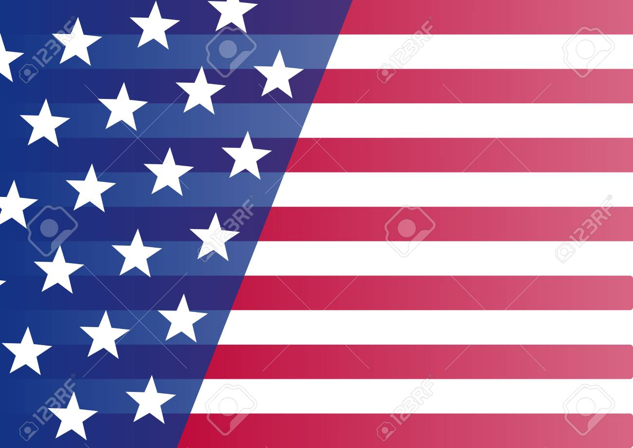 usa flag banner for your text vector illustration royalty free