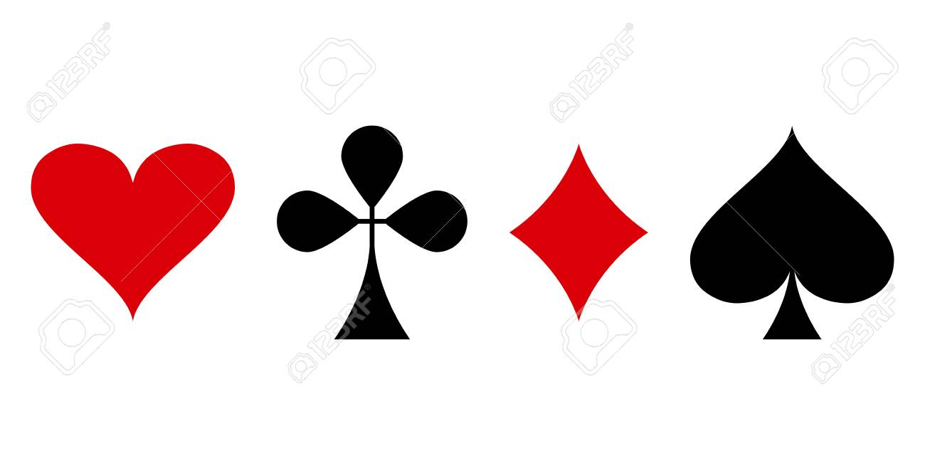spade card red  Red and black poker card suit: heart, club, diamond and spade..
