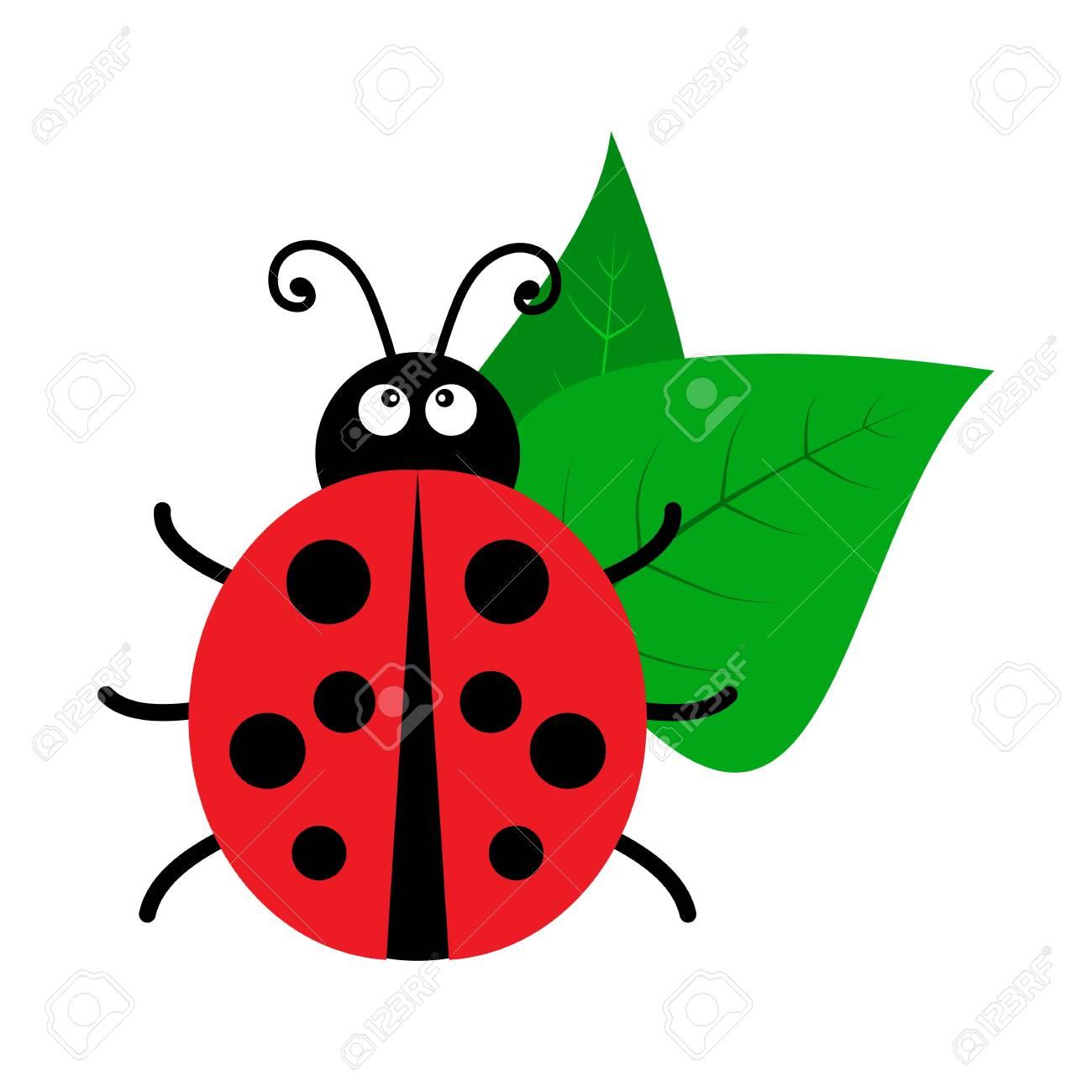Bright ladybug icon. Vector illustration - 128941833