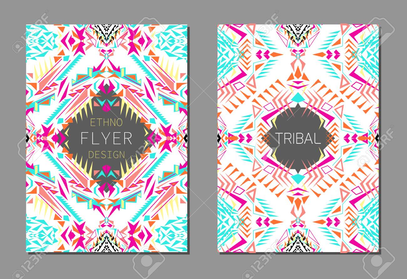 vector set of geometric colorful brochure templates for business