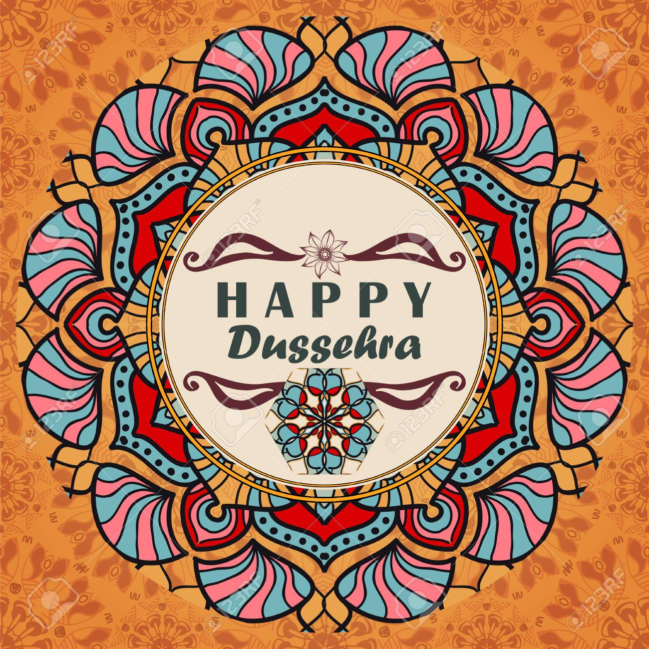 Greeting Card To Indian Festival Vijayadashami Happy Dussehra
