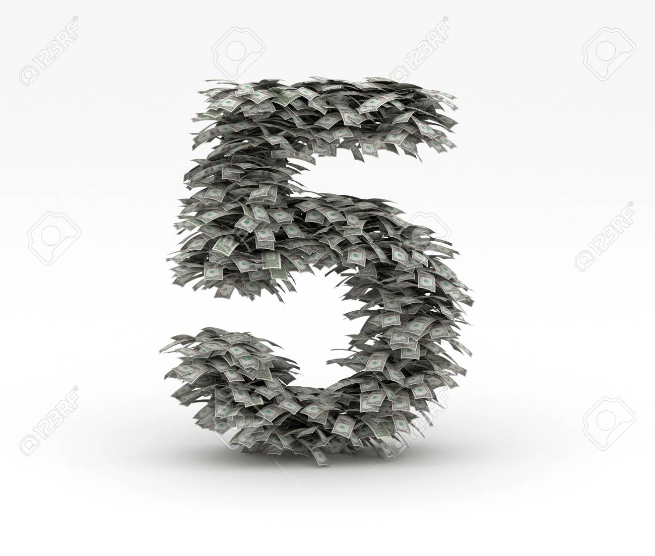 Dollars letter number 5 Stock Photo - 12668943