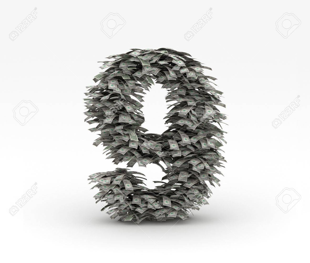 Dollars letter number 9 Stock Photo - 12668954