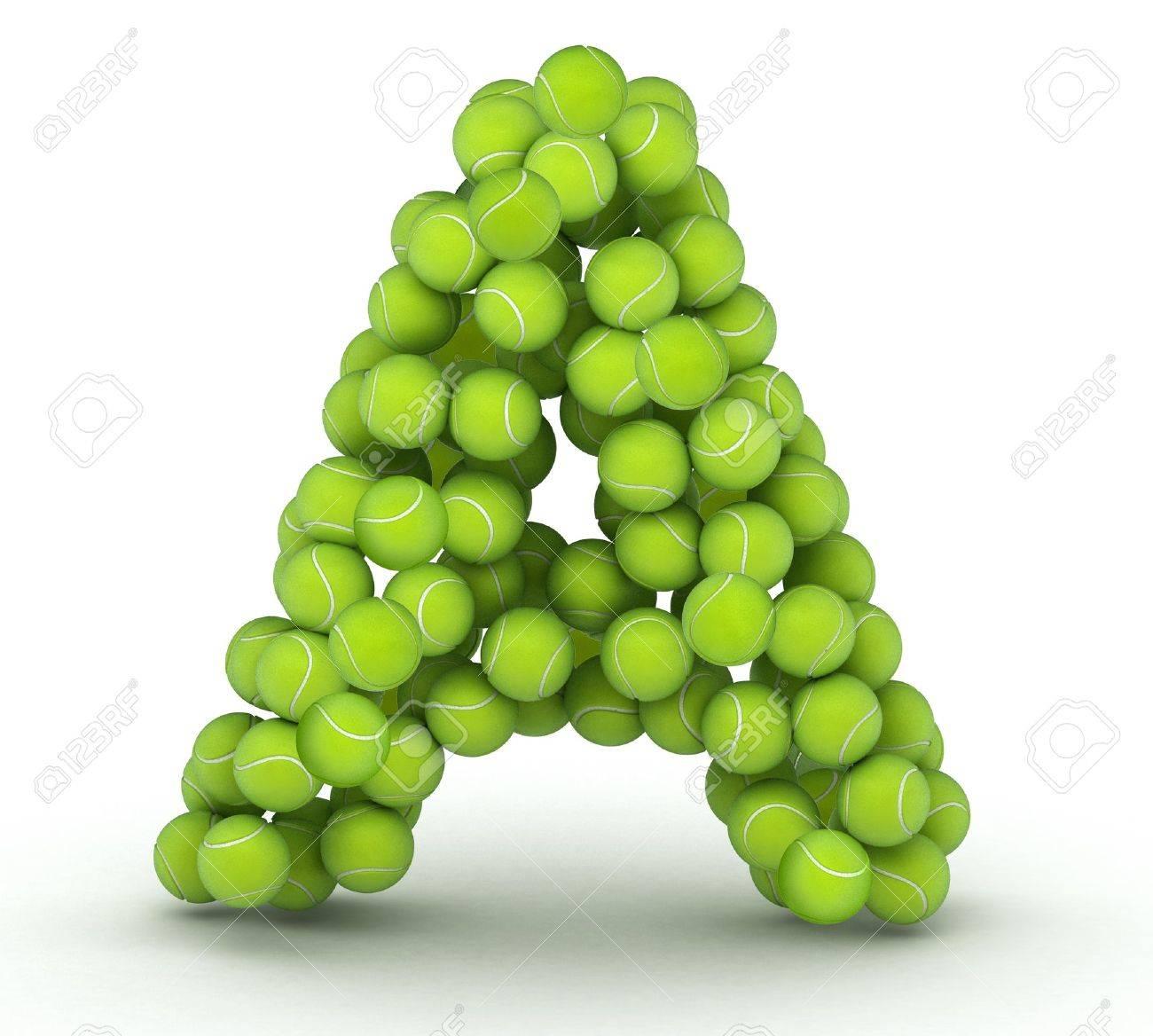 A Alphabet Letter Letter A  alphabet of tennis