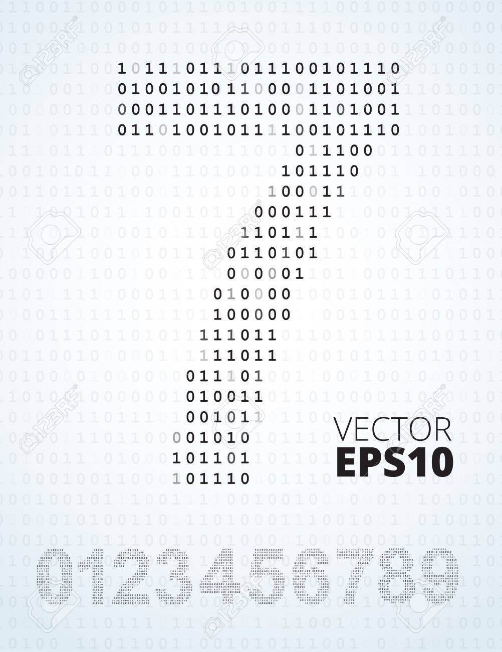 Binary Numbers List Number 0-9 Font From Binary