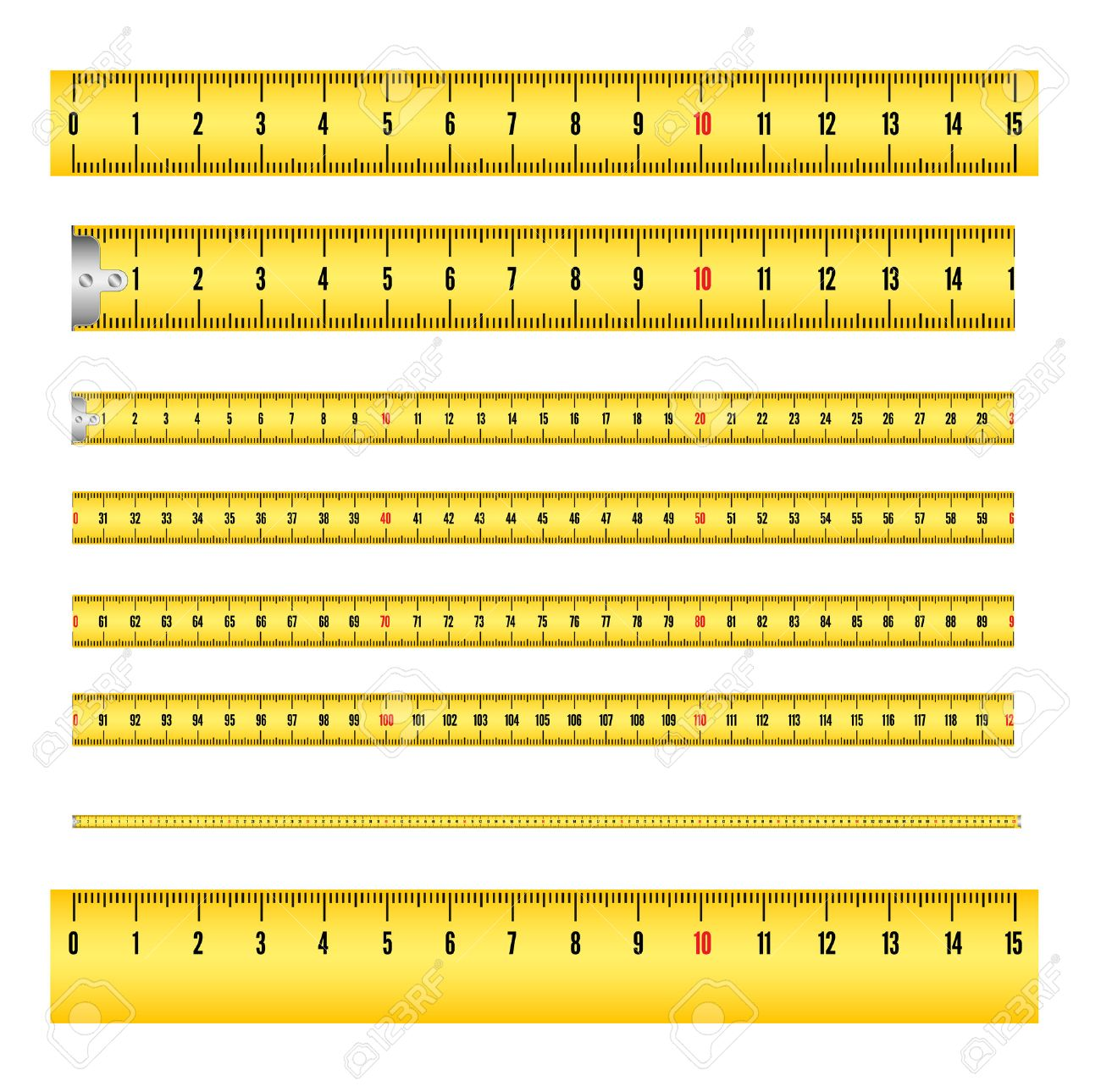 worksheet Ruler Measurement measuring tape in mm for tool roulette and ruler royalty free stock vector 27158635