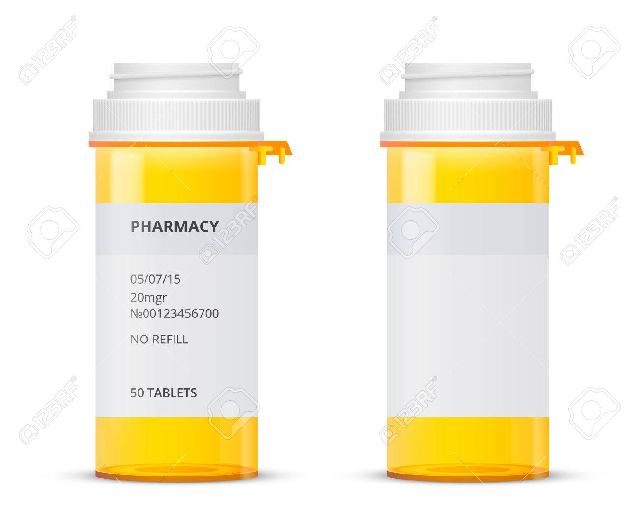 Flasche Für Verschreibungspflichtige Pille Mit Etiketten-Vorlage ...
