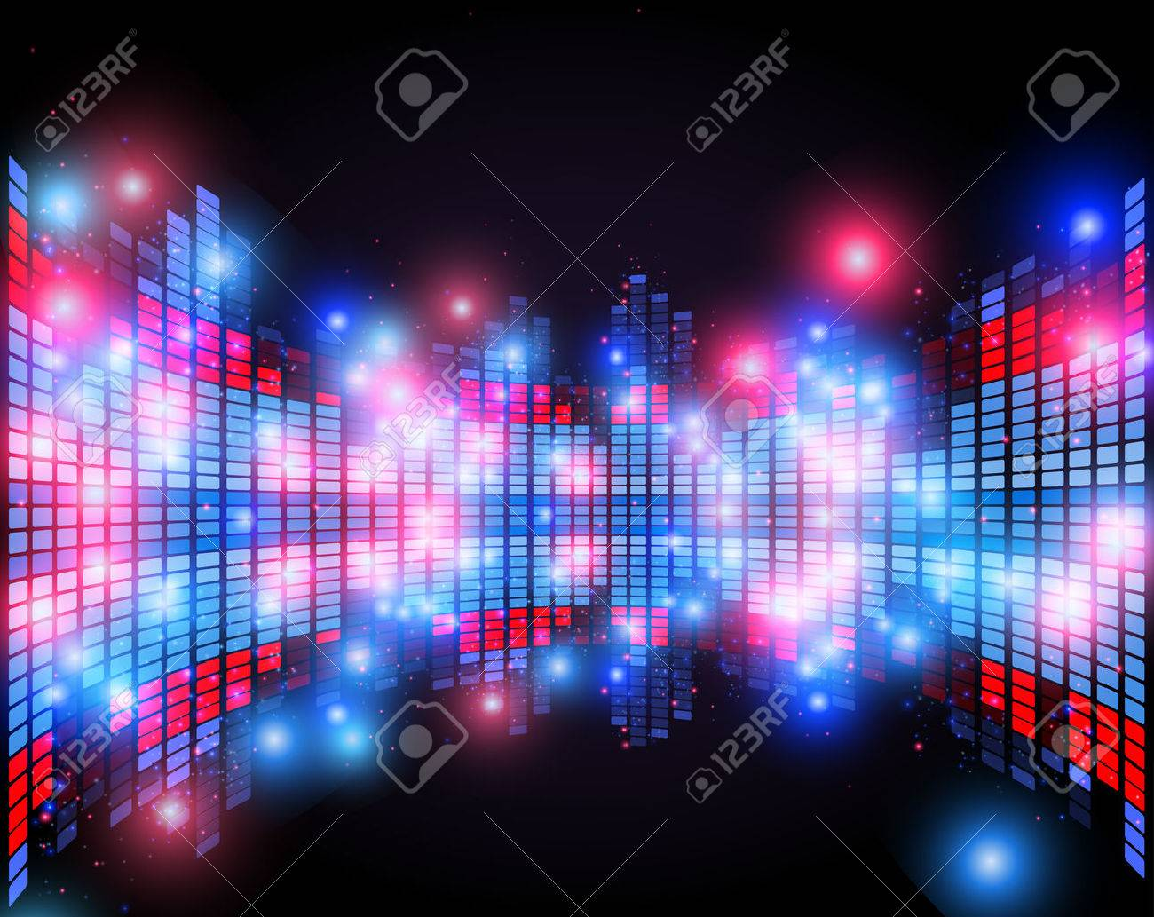Abstract equalizer with 3d perspective effect , night music club life vector concept - 62510043