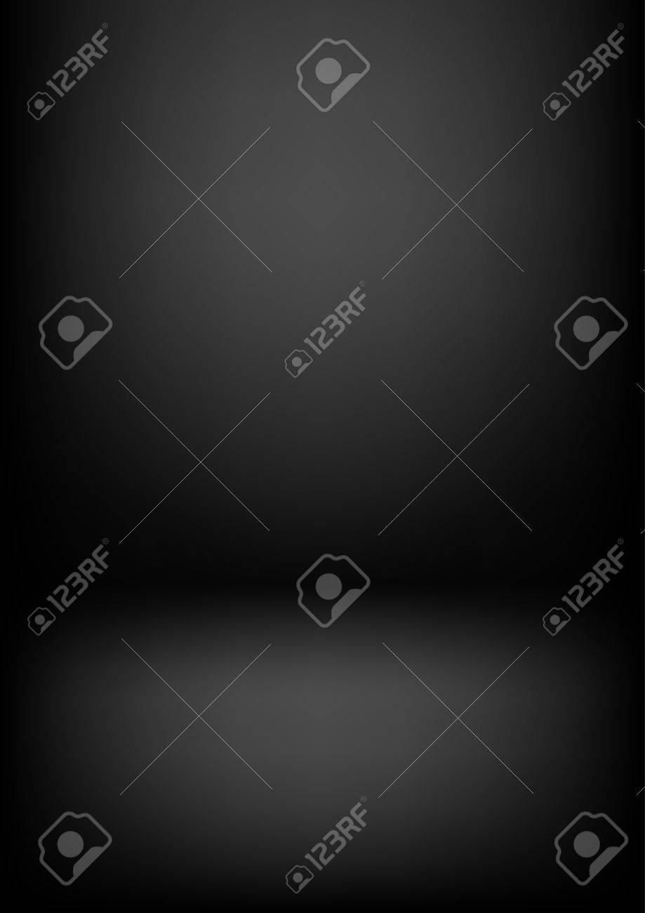 Clear studio dark vector black background for product presentation - 63541390