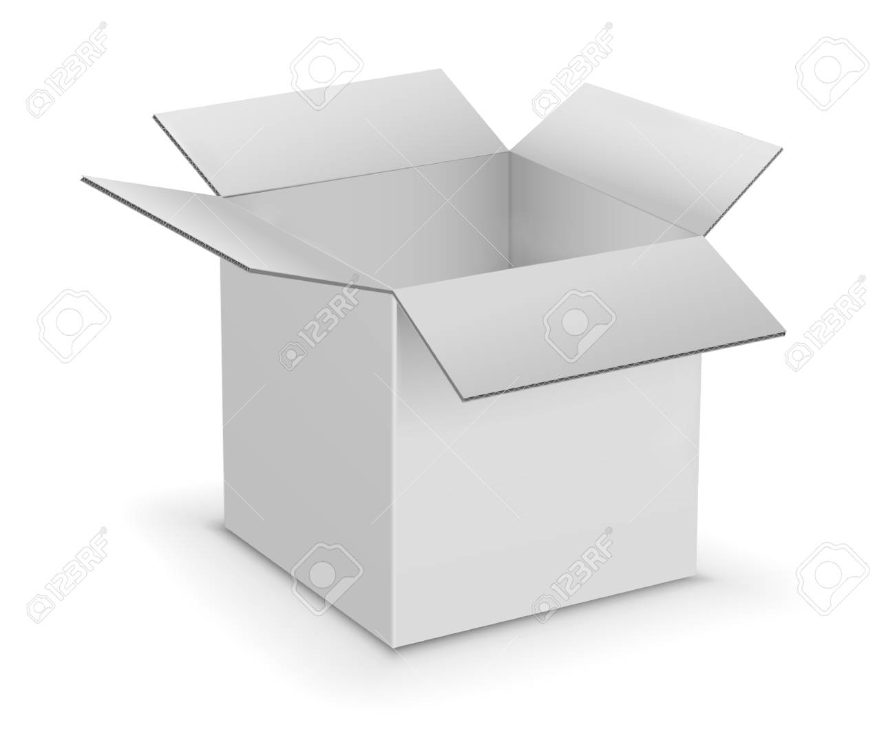 White Cardboard Boxes Template Royalty Free Cliparts Vectors And