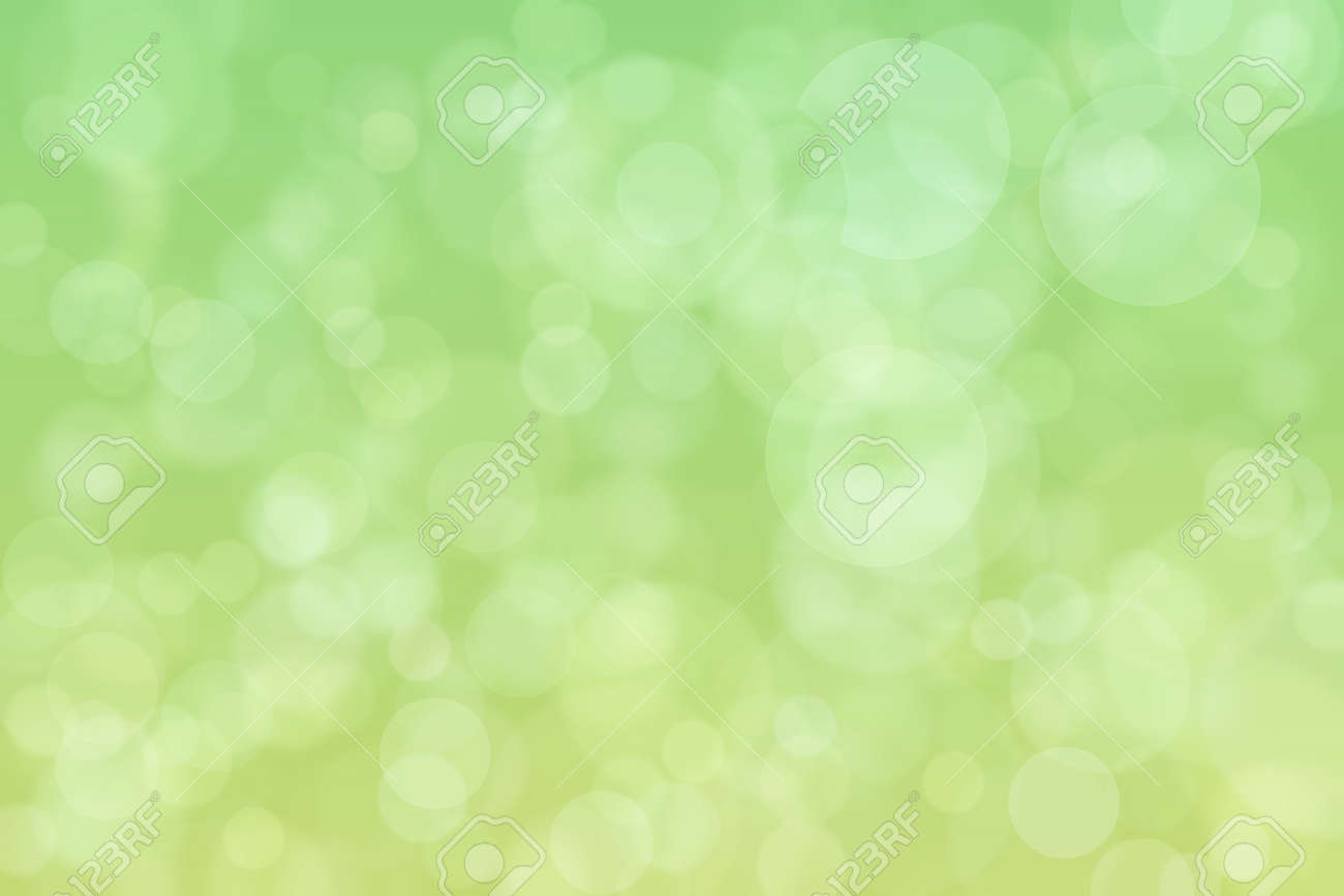 Light spots on green background. Abstract bokeh. - 169866871