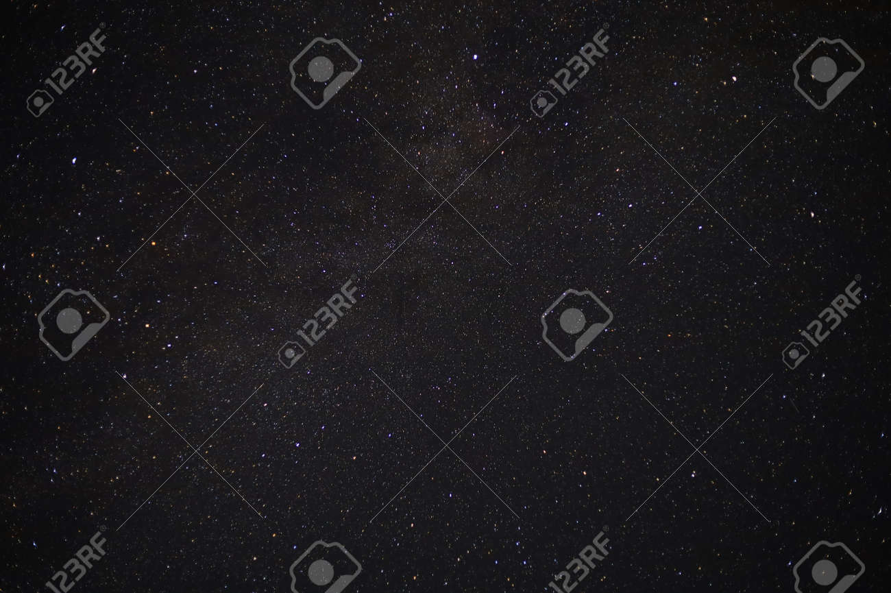 Starry sky in the dark of August night. Very nice background. - 156668509