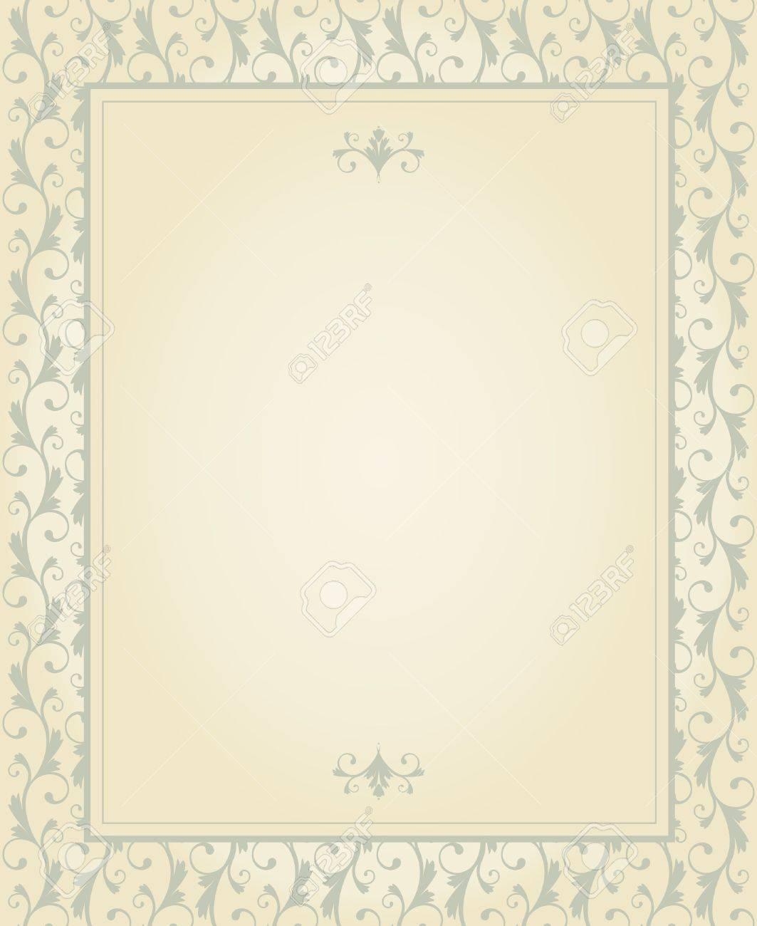 Greeting Card Template In Vintage Style Elements Are Grouped – Birthday Card Layout