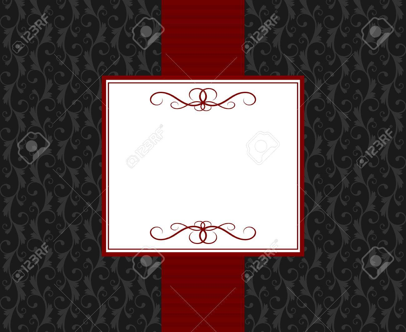 Greeting card template in vintage style. Elements are grouped and layered for easy editng. Stock Vector - 12027160