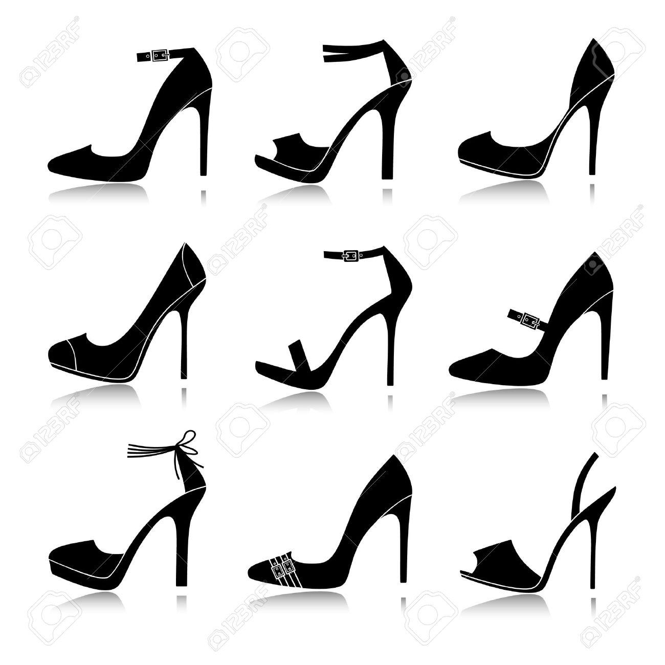 Europe@s suman, American@s restan - Página 30 12394138-ilustraci%C3%B3n-vectorial-de-nueve-modelos-diferentes-de-zapatos-de-tac%C3%B3n-alto-cada-uno-de-ellos-se-agrupan-y-