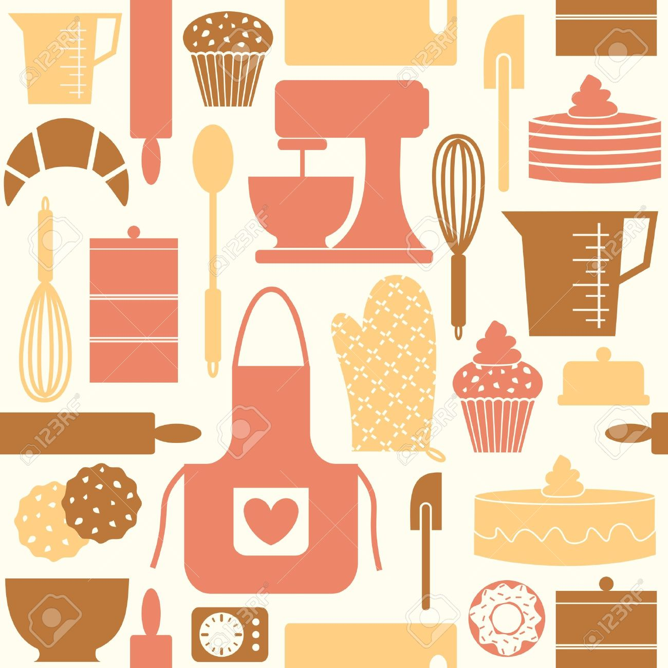 Vintage kitchen wallpaper patterns - Pattern Seamless Seamless Pattern Kitchen Baking Bake Cook Cooking