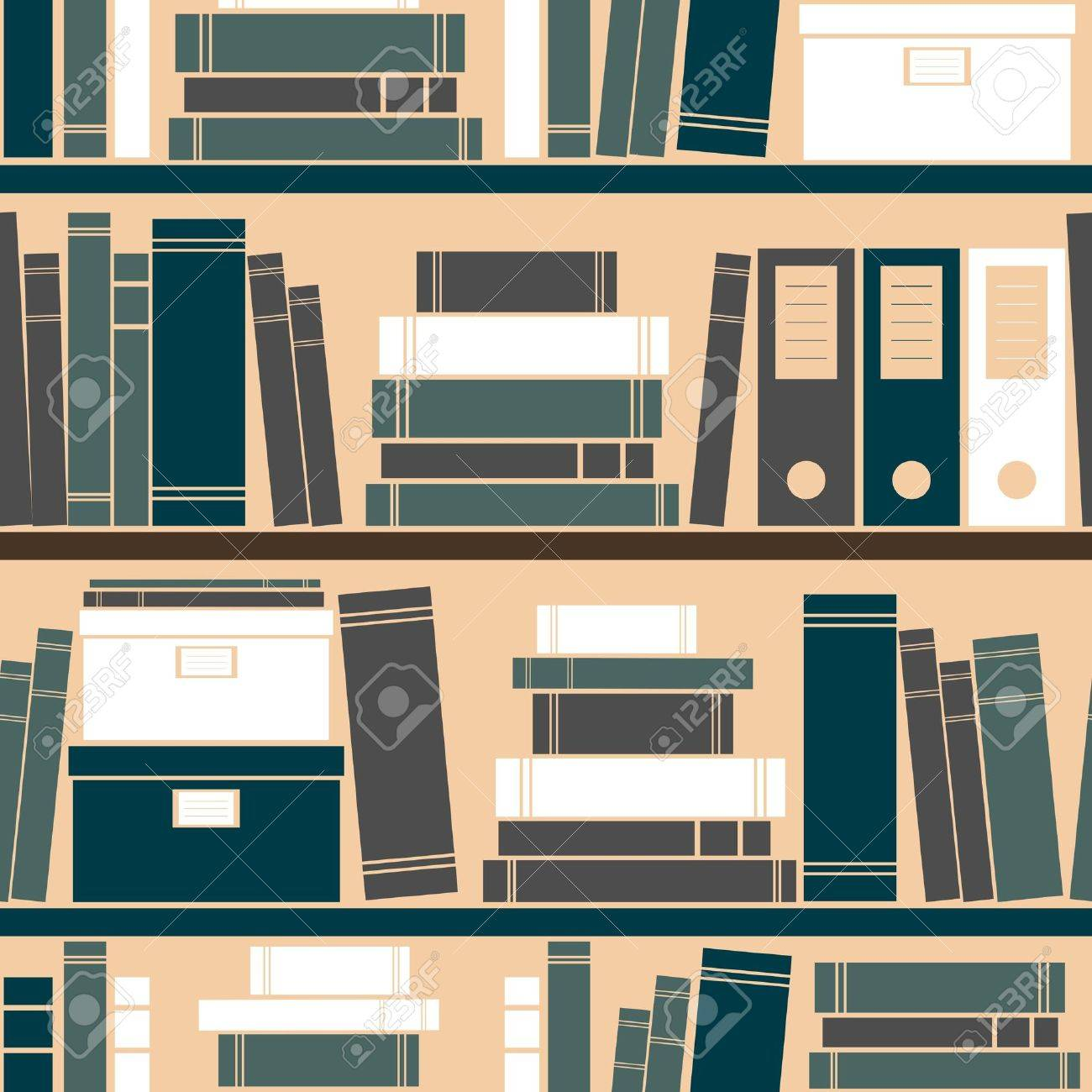 Seamless pattern with books placed on a bookshelf Stock Vector - 13750172