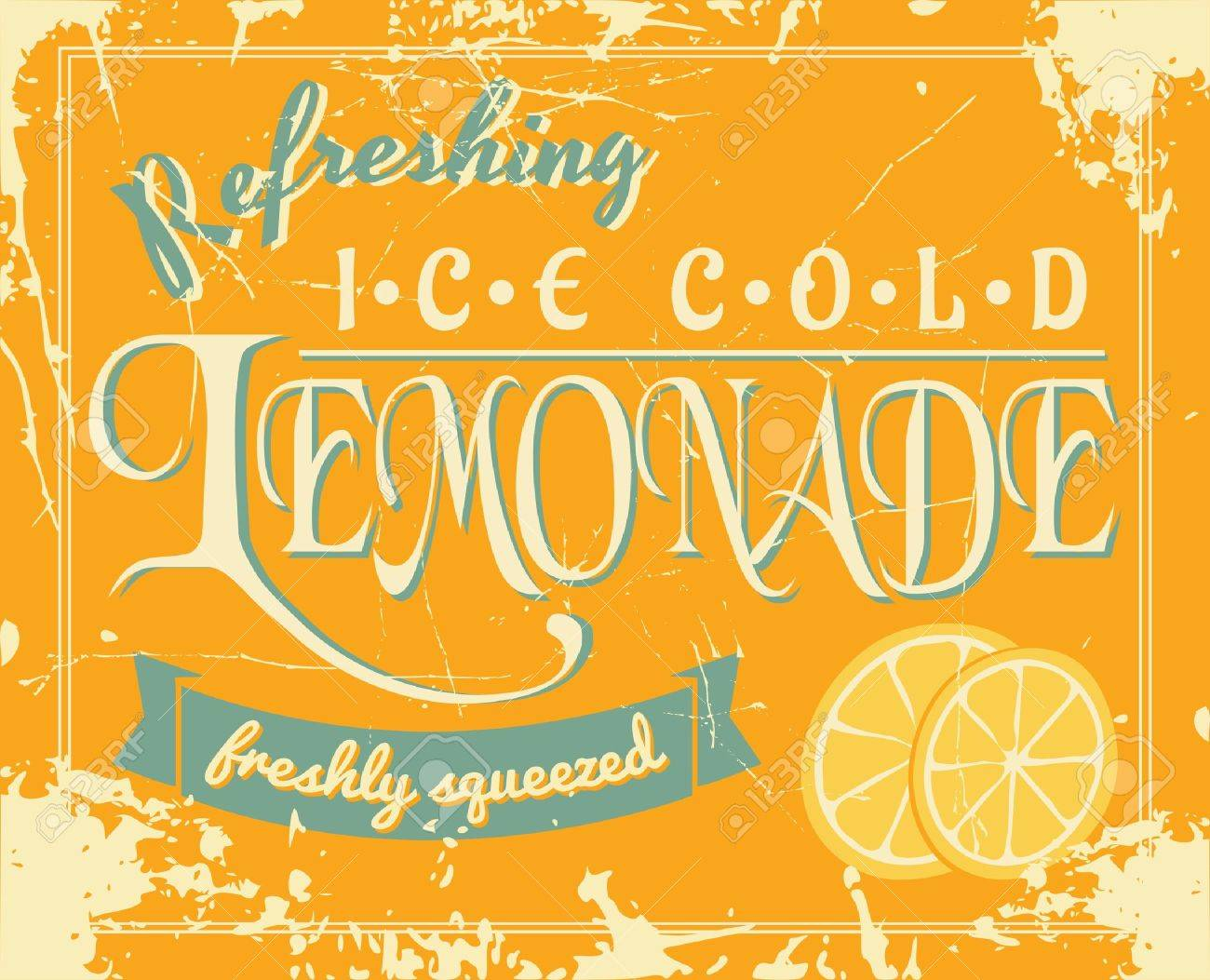 Lemonade Poster In Vintage Style. Royalty Free Cliparts, Vectors ...