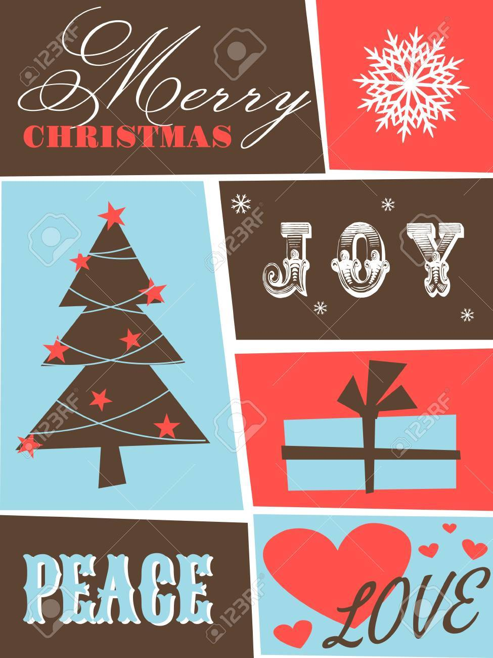 Greeting card design for Christmas Stock Vector - 14031262