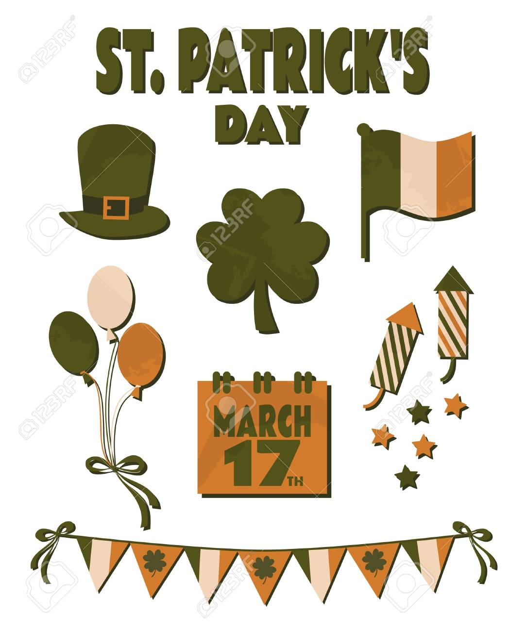 A collection of design elements for St. Patrick's Day. Stock Vector - 17688926