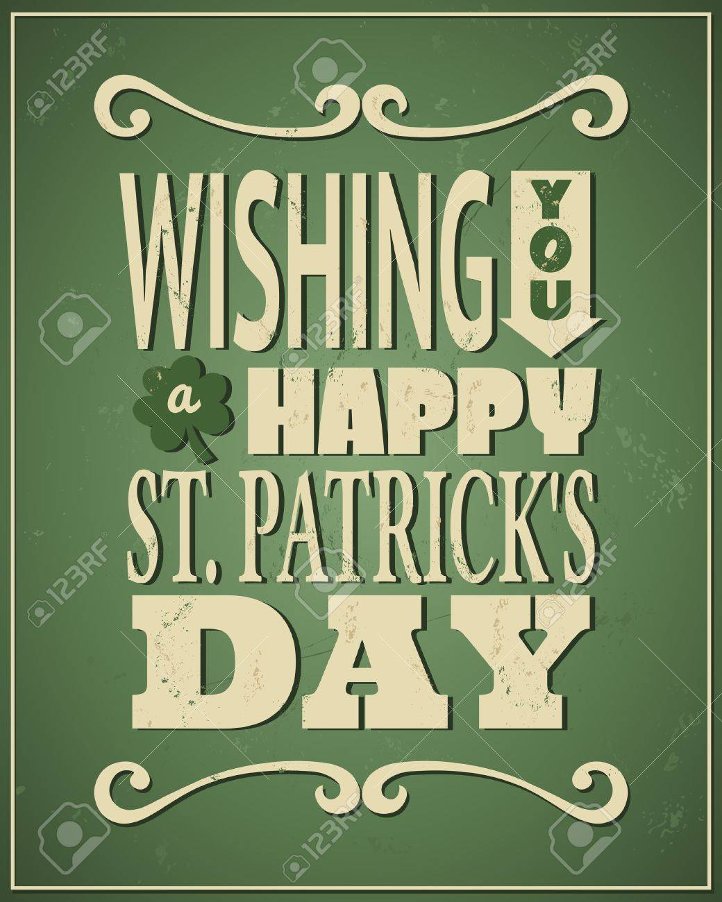 Cool typographic design for St. Patrick's Day. Stock Vector - 18156362