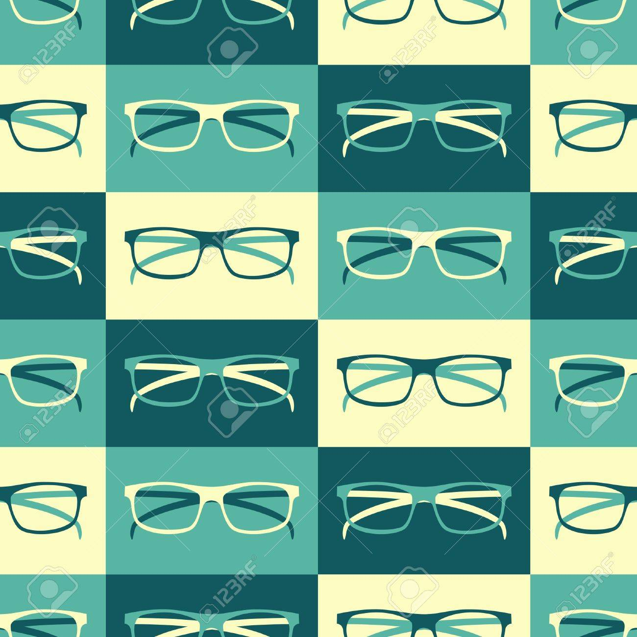 Seamless pattern with retro eyeglasses Stock Vector - 18979855