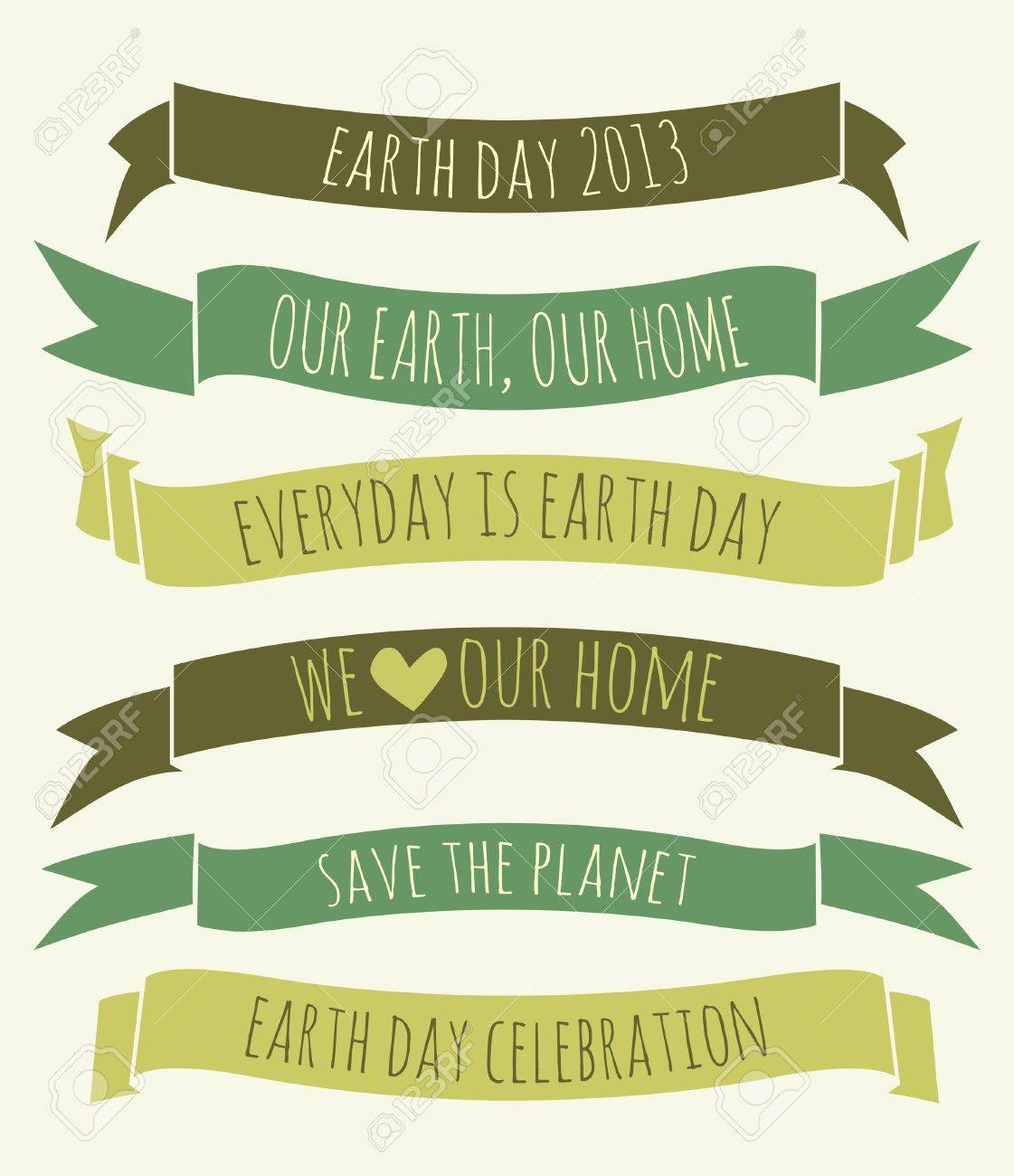 A set of green banners for Earth Day Stock Vector - 19046988